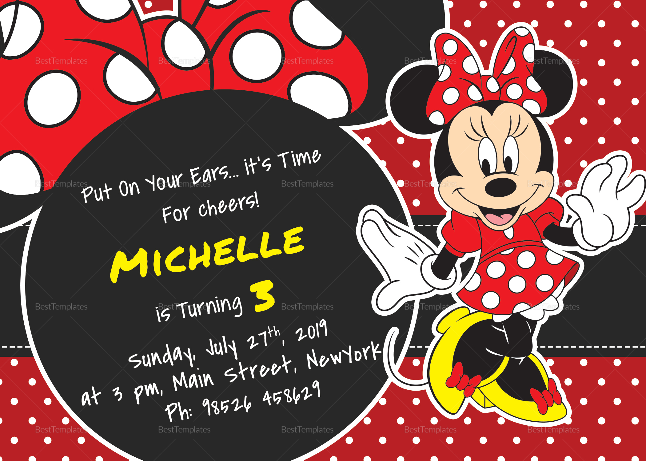 rocking minnie mouse birthday