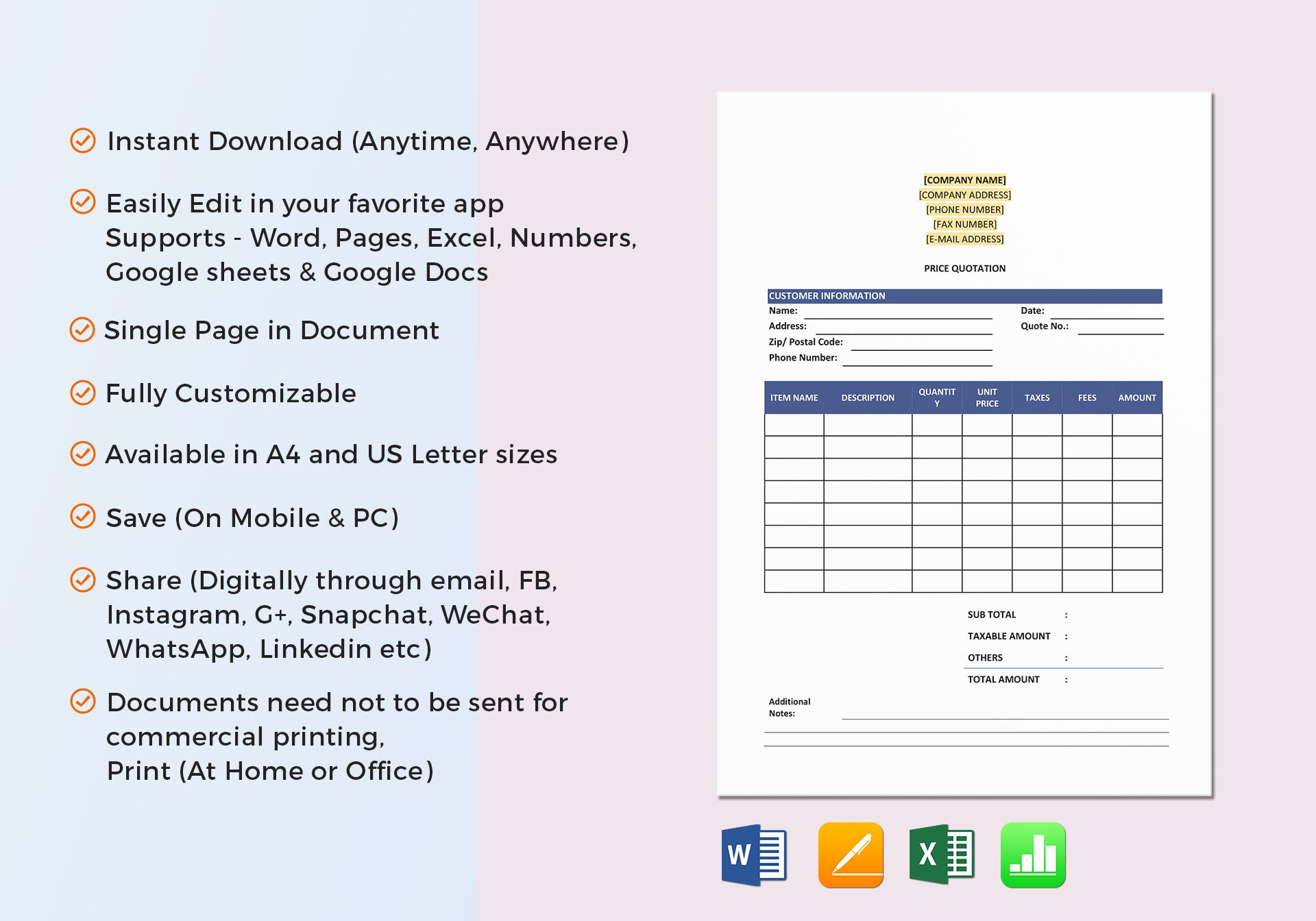 Purchase Order Template In Word Excel Docs Apple