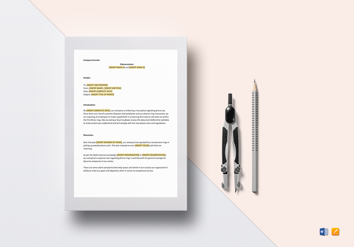 Sample Business Memo Template In Word Google Docs Apple Pages