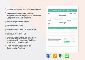 Receipt Templates in Word, Excel, Apple Pages & Numbers, Google Docs ...