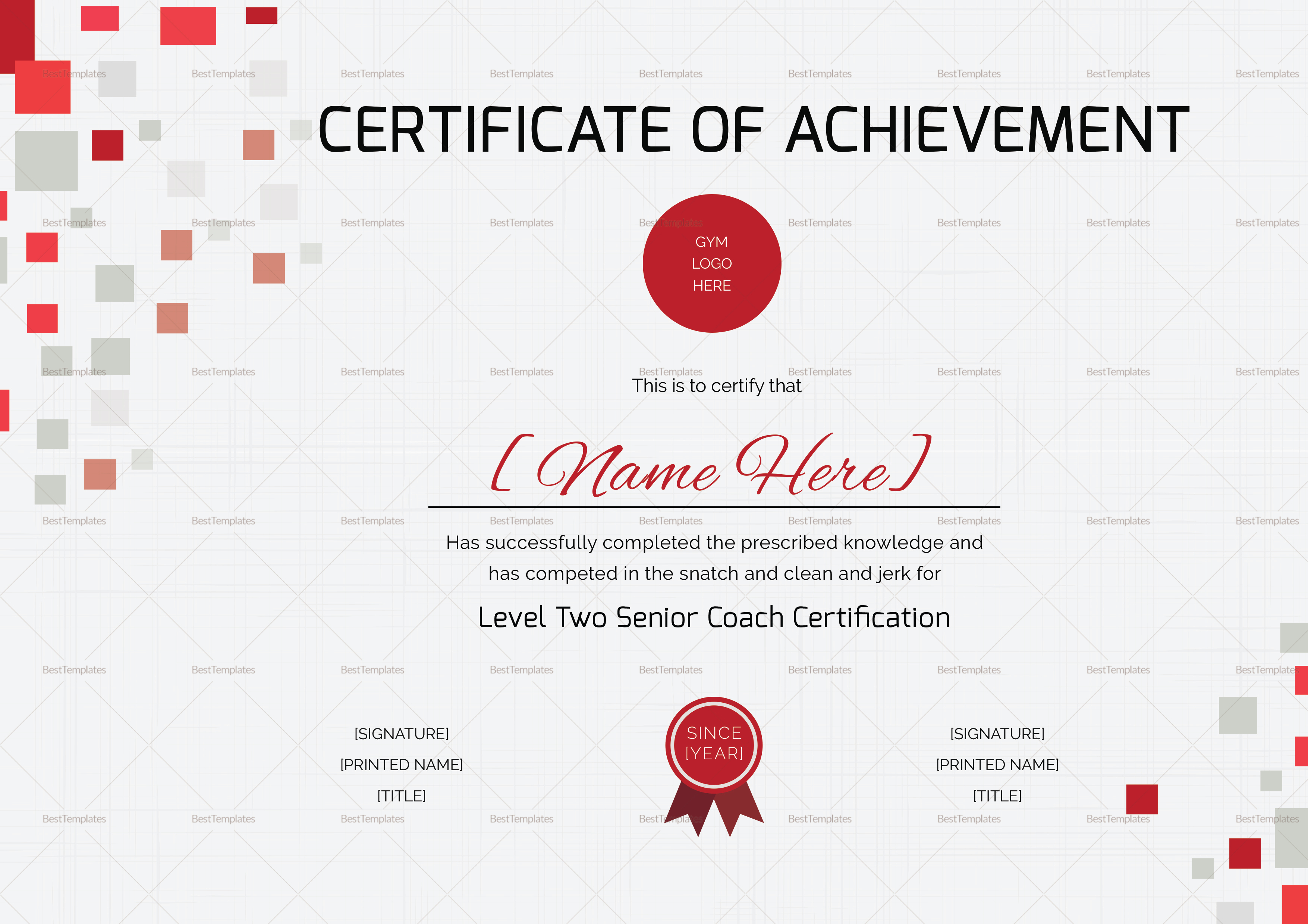 Olympic Lifting Certification Tutore