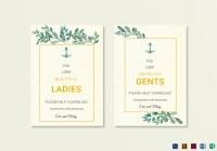 Nautical Wedding Bathroom Signs Template in PSD, Word ...