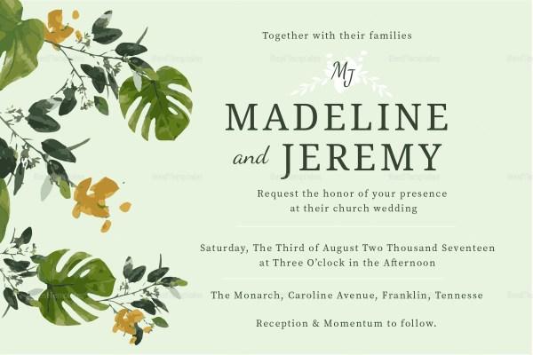 church wedding invitation design