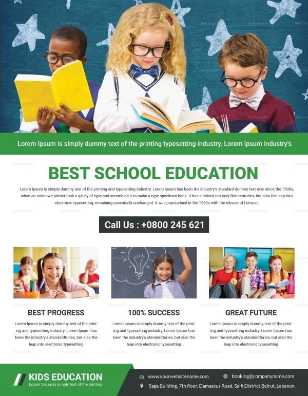 Talent Education Flyer Design Template In Psd Word Publisher