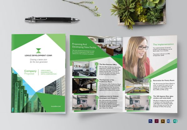 Company Proposal Brochure Design Template In Psd Word