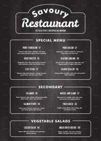 Chalkboard Menu Template. printable chalkboard menu ...