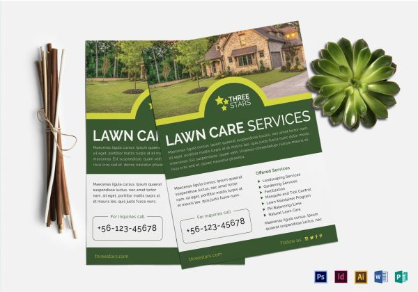 lawn care flyer design template