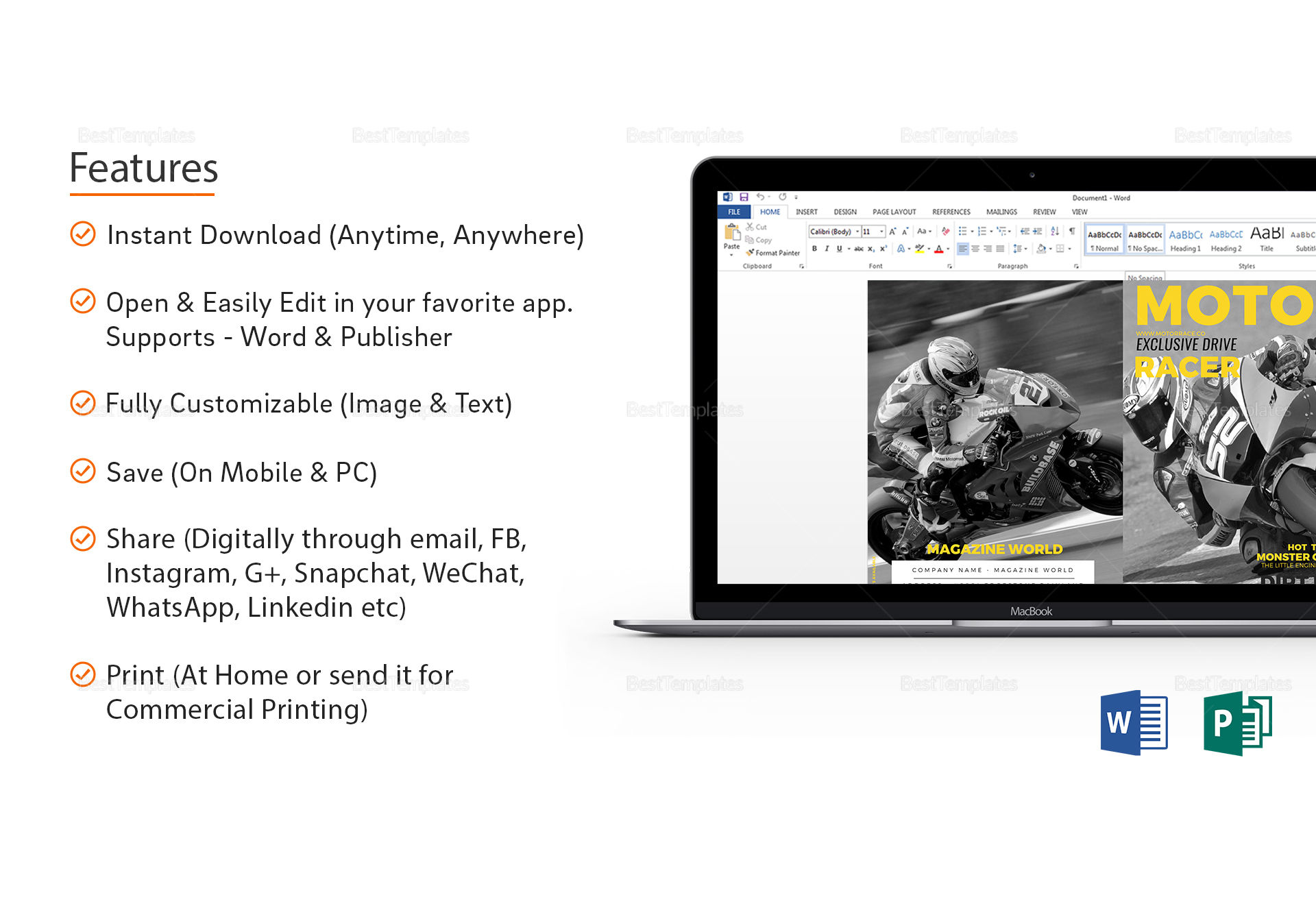 Sports Magazine Template in Word, Publisher