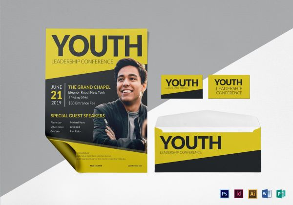 Young Leadership Conference Flyer Design Template In Psd