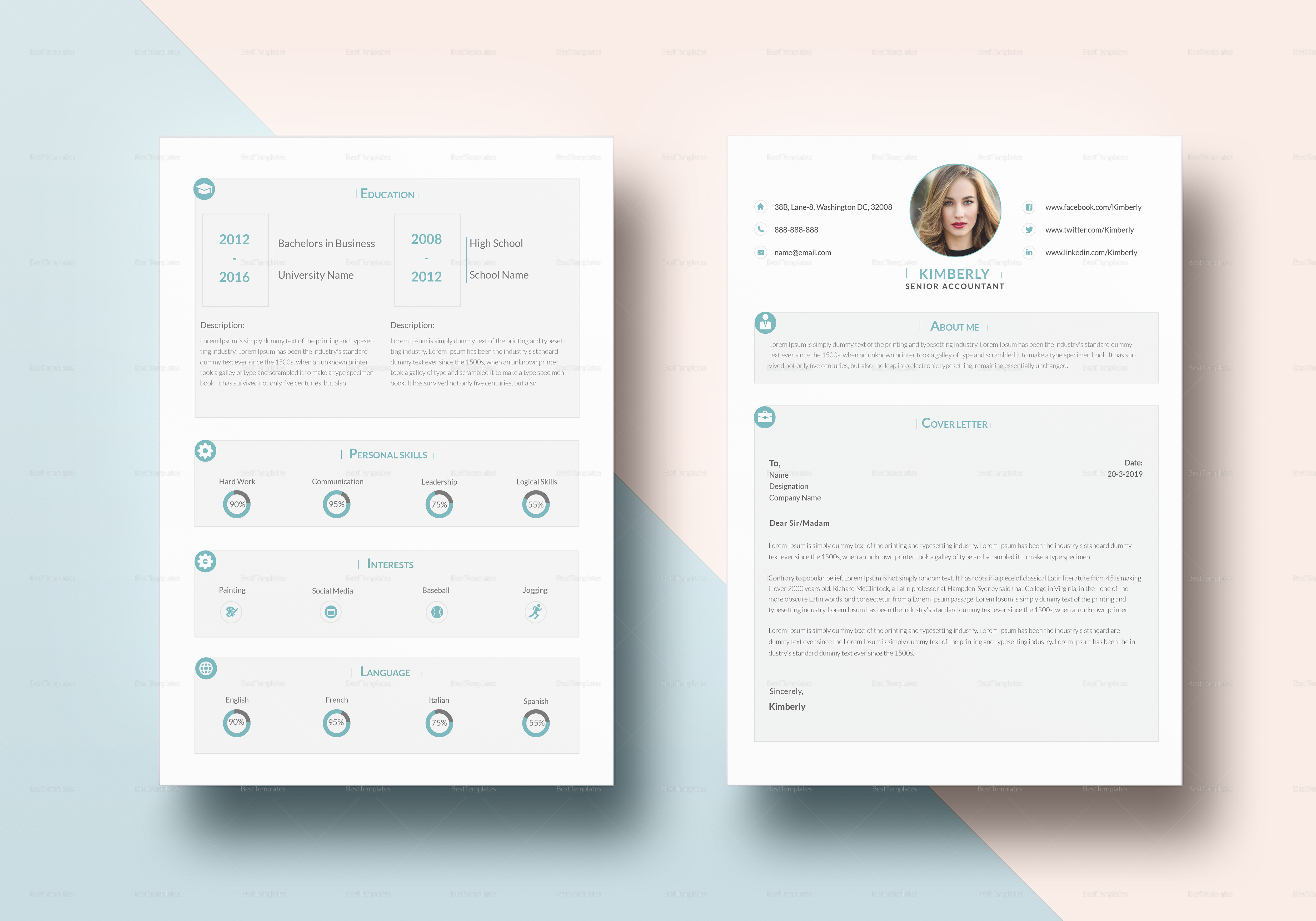 Mobile Product Manager Resume Experienced Senior Accountant Resume Design Template In