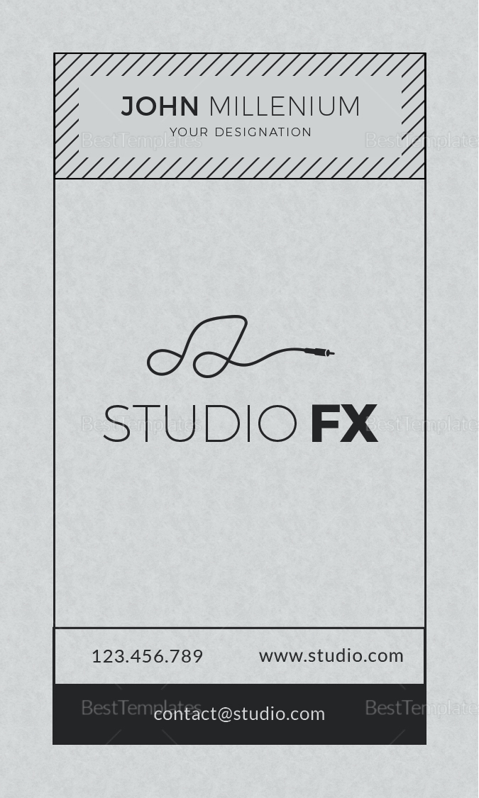 Studio Business Card Design Template in PSD, Word, Publisher