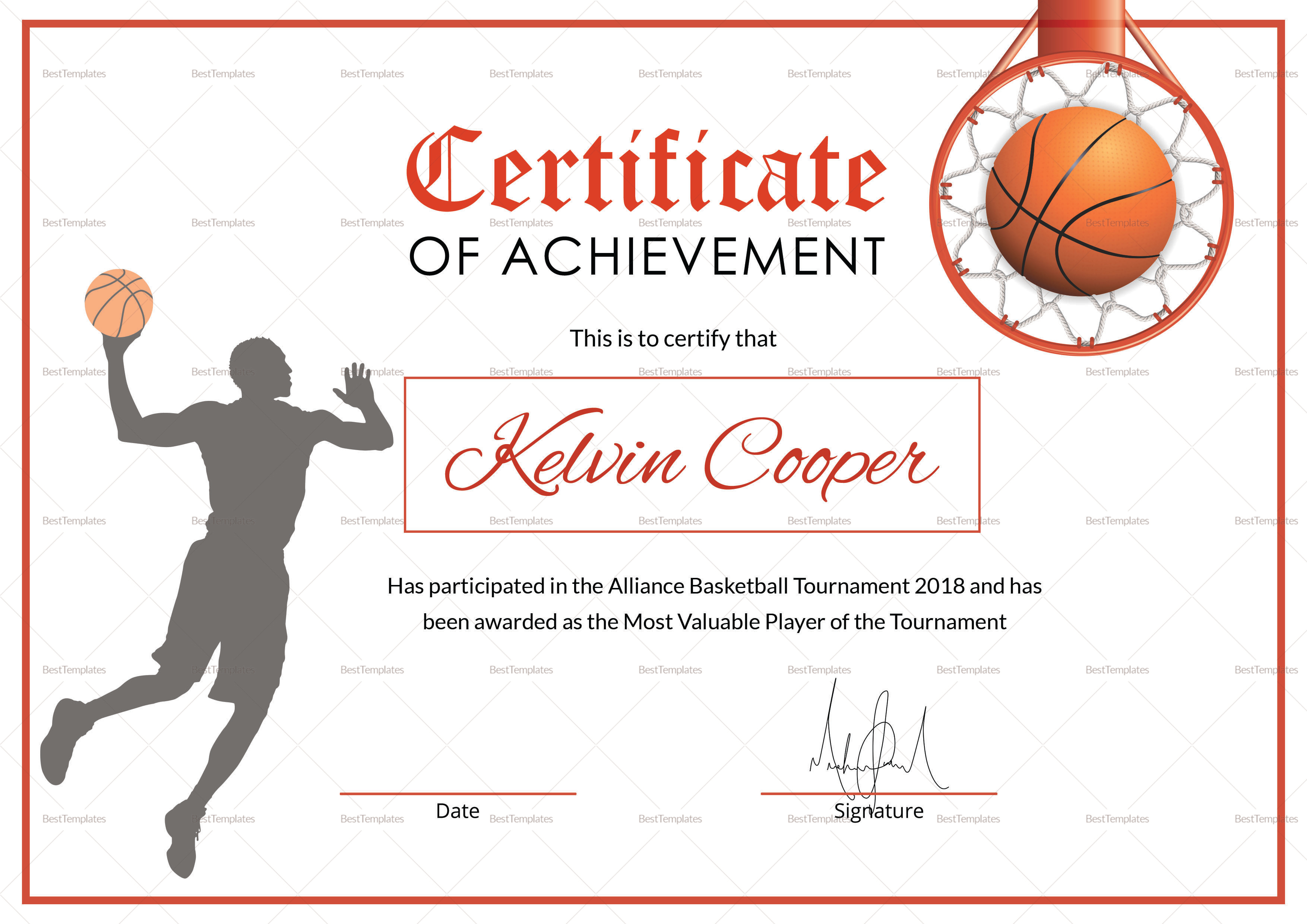 Printable Basketball Certificates That Are Eloquent