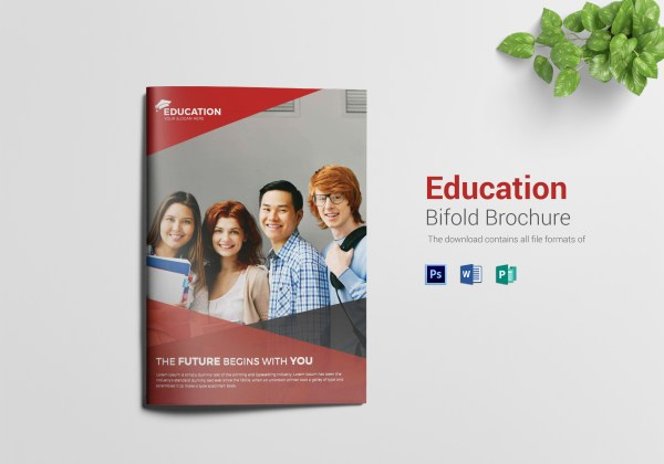 Higher Educational Brochure Design Template In Word Psd