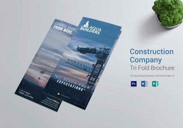 Tri-Fold Brochure Template Construction