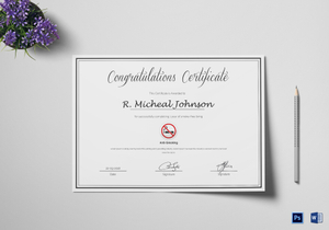 Congratulations Certificate Designs & Templates in Word, PSD