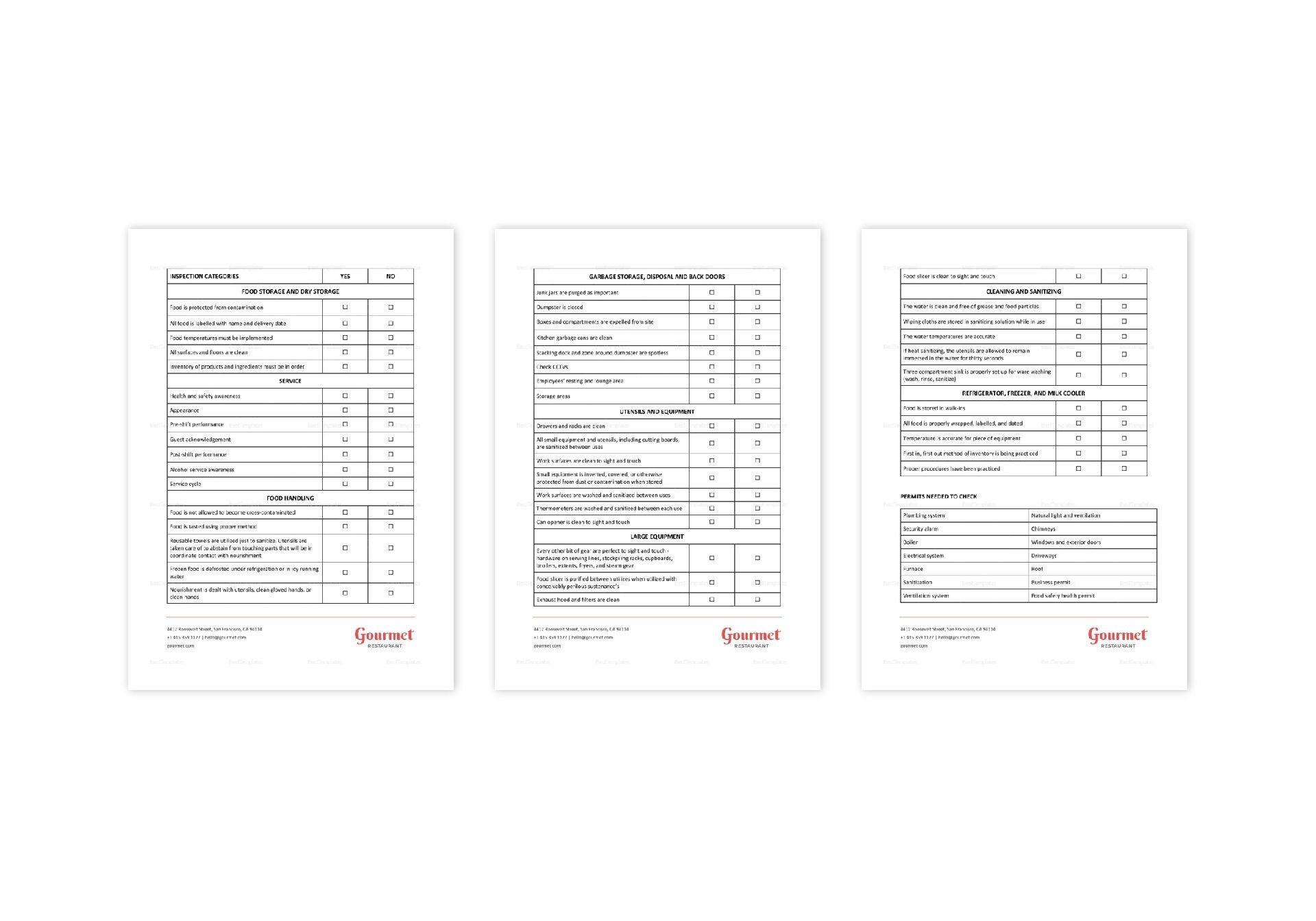 Restaurant Employee Pre-Termination Checklist Template in
