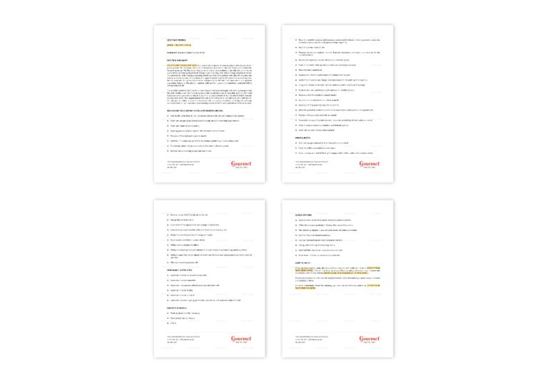 Restaurant Accountant Job Description Template in Word