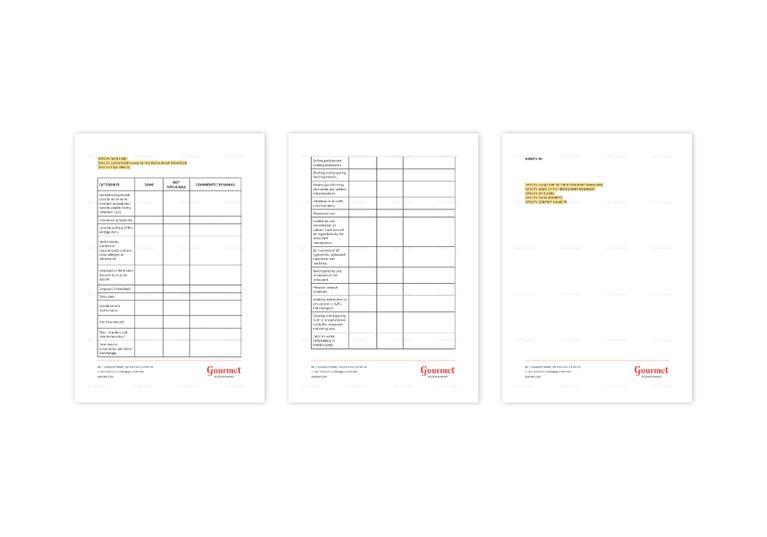 Restaurant Employee Training Checklist Template in Word