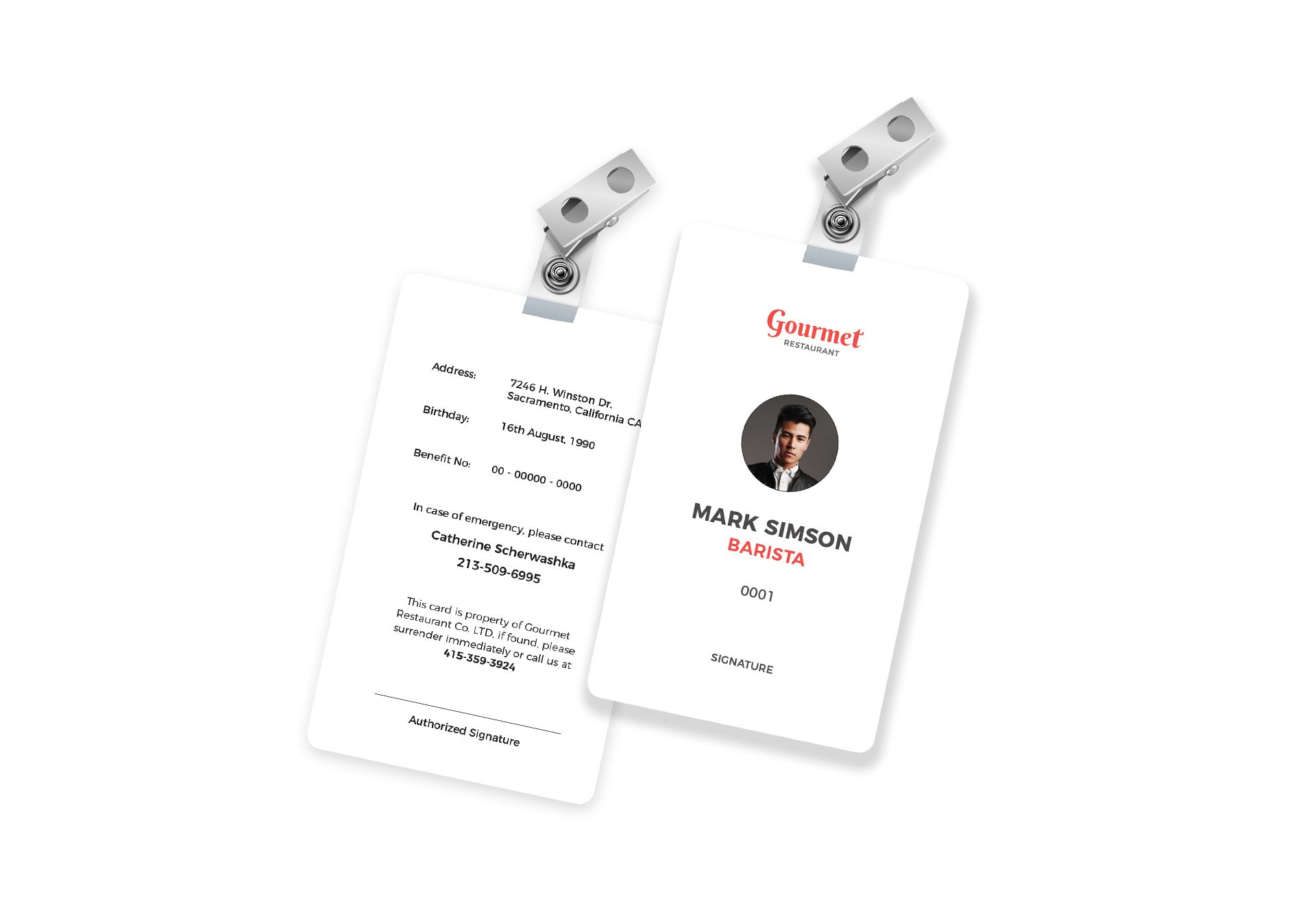 Restaurant Identity Card Template in PSD, Word, Publisher