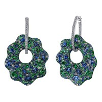 Robert Procop Sapphire, Tsavorite & Diamond Drop Earrings ...