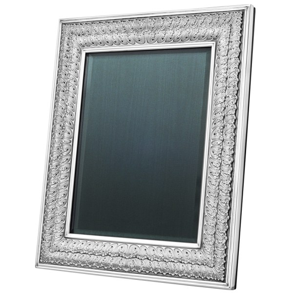 Buccellati Silver Double Linenfold Frame 8 X 10