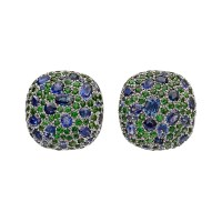 Dorota Sapphire Tsavorite Pebble Earrings | Betteridge