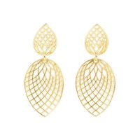 Paul Morelli Small 18k Yellow Gold Spiral Mesh Dangle ...