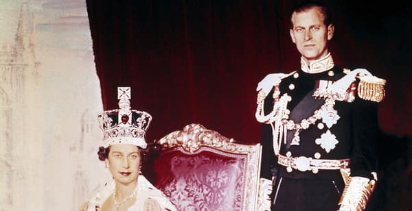 La reine Elizabeth et le prince Philip, le jour de son couronnement, le 2 juin 1953.