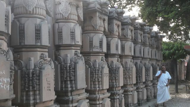 Stones carved for Ram temple at Ramghat workshop in Ayodhya (File photo)