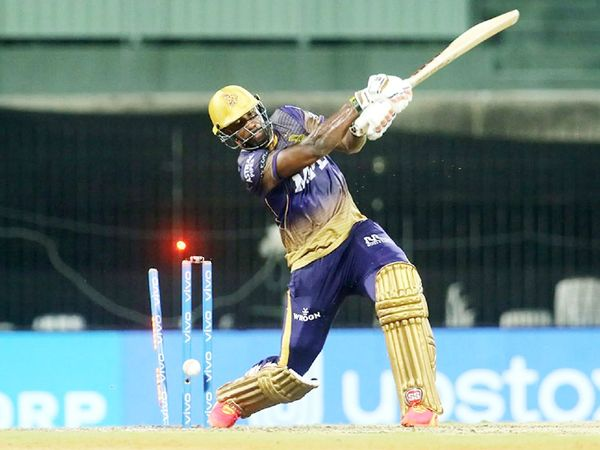 Andre Russell bowled cleanly in an attempt to win the Kolkata team the match.