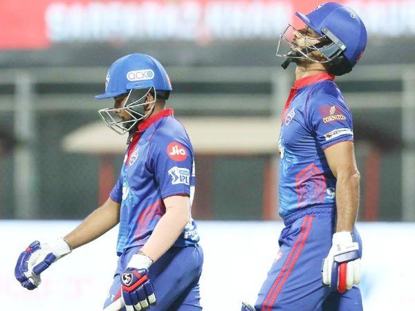 196 रन के टारगेट का पीछा करने उतरी दिल्ली टीम की शुरुआत शानदार रही। शिखर धवन और पृथ्वी शॉ के बीच 33 बॉल पर 59 रन की पार्टनरशिप हुई।