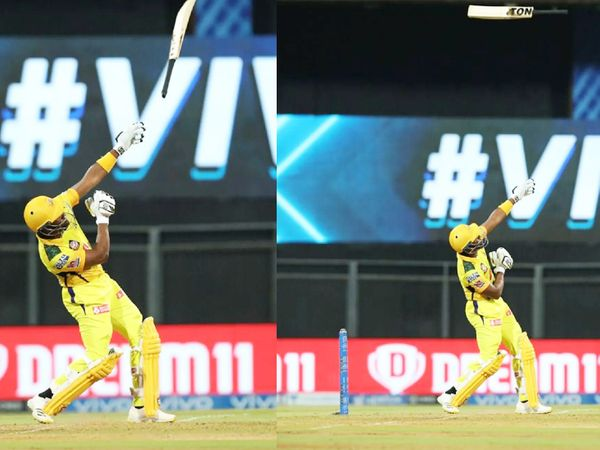 Bravo missed the bat due to a big shot in the 20th over of CSK's innings.