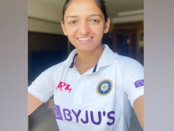 Harmanpreet also shared the picture in a test jersey.