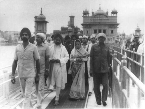 Indira Gandhi visited the Golden Temple after the operation was completed.