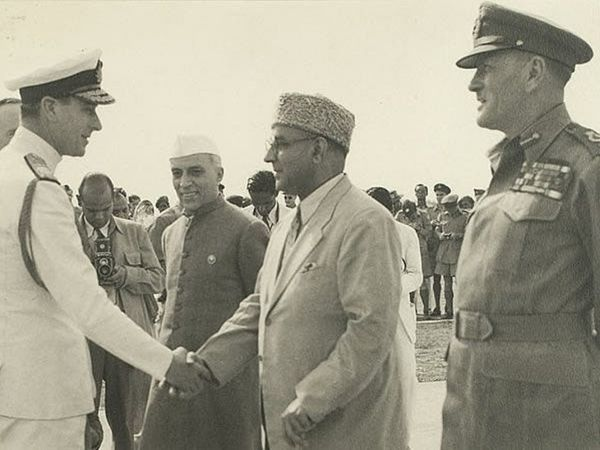 Jawaharlal Nehru and Liaquat Ali Khan came to pick up Mountbatten at Palam airport.  After independence, Nehru became the Prime Minister of India and Liaquat Ali Khan of Pakistan.