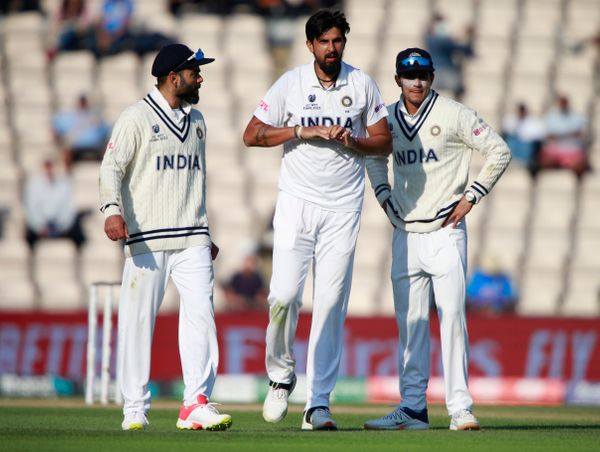 Ishant Sharma injured his finger during the match.  Bumrah then completed his over.
