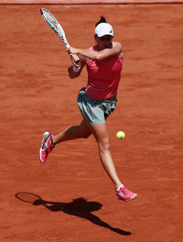 Switek had won 11 consecutive matches and 22 sets in the French Open before this match.