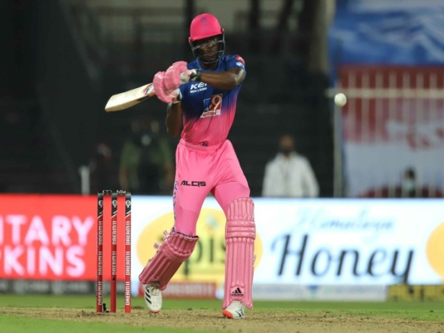 Jofra Archer of Rajasthan Royals scored an unbeaten 27 off 8 balls with 4 sixes.