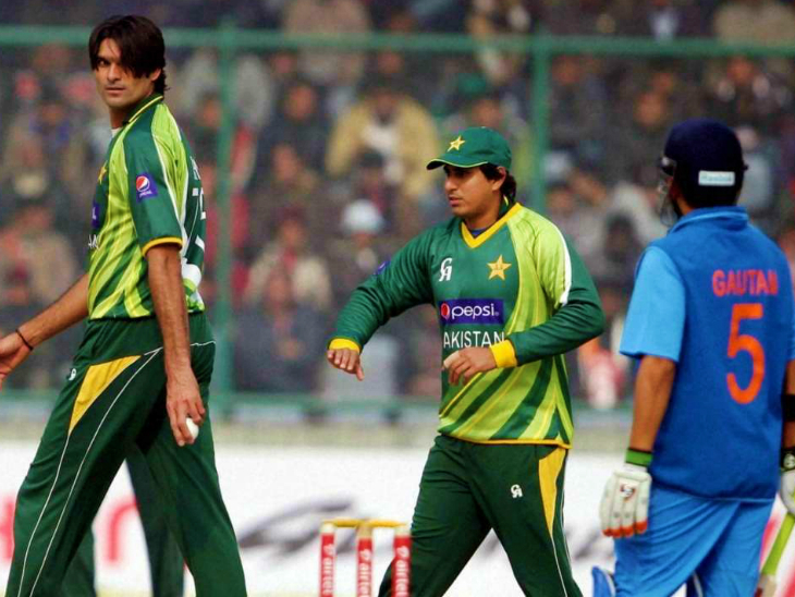 Mohammad Irfan (left-handed ball) played 60 ODIs for Pakistan and took 83 wickets.  A few days ago he claimed that Gautam Gambhir's international career ended because of him.  This claim was widely mocked on social media.  (File)