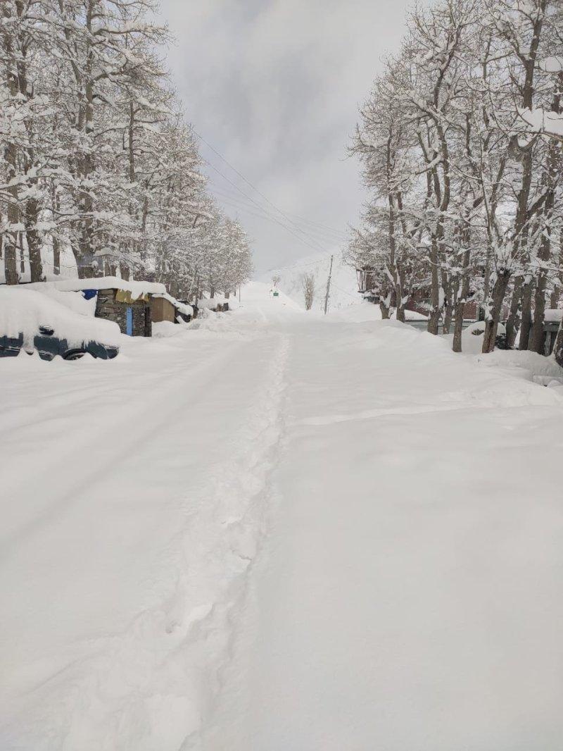 हिमाचल के लाहौल स्पीति में बर्फबारी से कई पर्यटक फंस गए हैं।