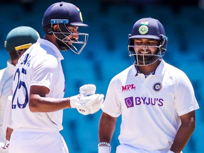 Pant and Cheteshwar Pujara shared a 148-run partnership for the fourth wicket.