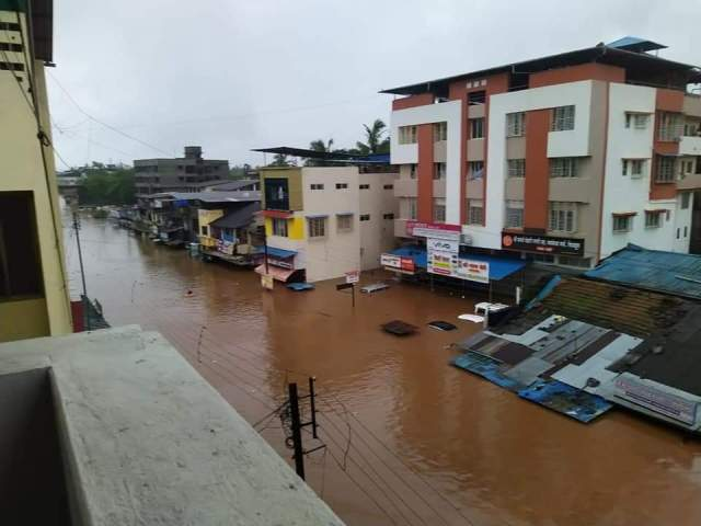In the cities, the water had drowned till the doors of shops and houses.