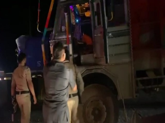 The police arrested the truck driver.