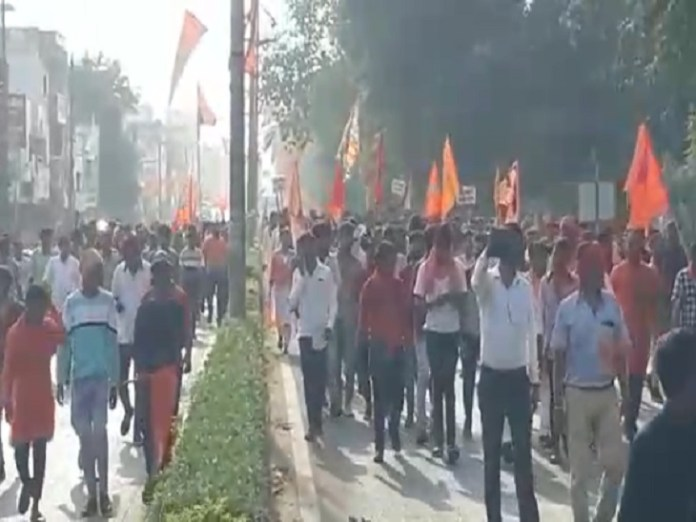In Korba, workers have taken out a rally from Subhash Chowk to Kosabari Chowk.