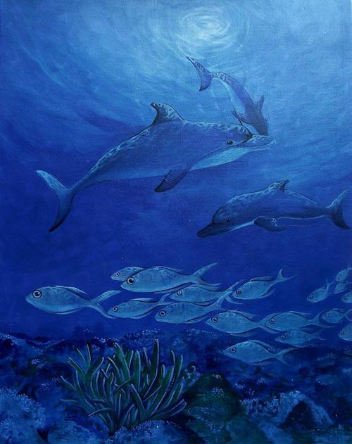 Dolphins - Cherie Dirksen original painting