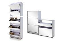 shoe storage mirror cabinet - 28 images - wooden shoe ...