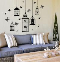 Wall Decals - Butterfly cages Vinyl Wall Art Sticker Decal ...