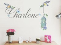 Wall Decals - New Bespoke personalised name bird cage ...