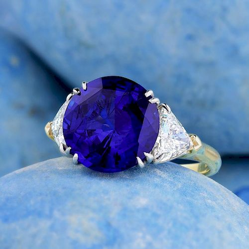 Harry Winston 6.34-Carat Sapphire and Diamond Ring. with an AGL Report by Fortuna Auction - 966226   Bidsquare