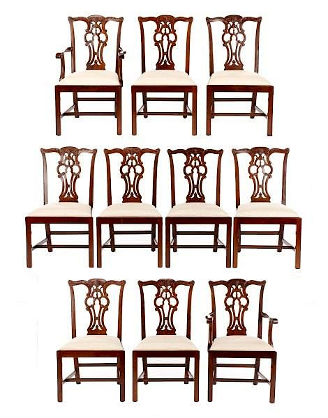 maitland smith dining chairs swedish lounge set of 10 by ahlers ogletree 542175 bidsquare